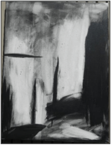 Abstract painting, Black, by C.Whitaker