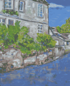 S. Parsons Canal Oil Painting