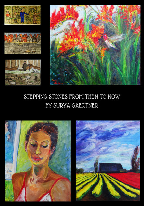 Stepping Stones from Then to Now - Surya Gartner art