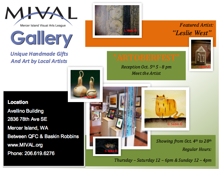 MIVAL GALLERY October Gallery flyer